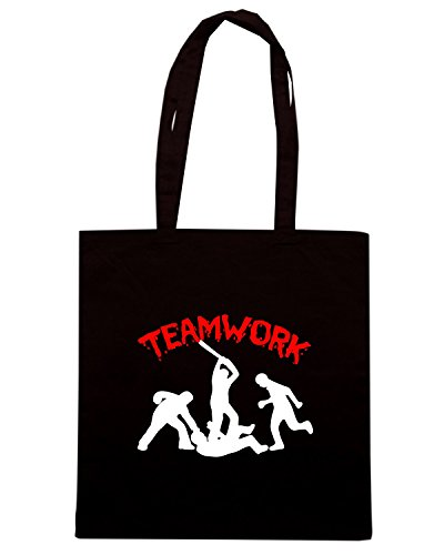 T-Shirtshock - Borsa Shopping TR0133 Teamwork Fun T-Shirt Nero