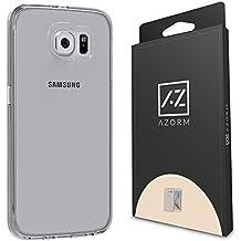 Funda Galaxy S6 - Funda Samsung Galaxy S6 Funda de Silicona de gel TPU Transparente, Ultra delgada, Resistente a los arañazos en su parte trasera, Amortigua los golpes [SE INCLUYE UN PROTECTOR DE PANTALLA Y UNA BAYETA LIMPIADORA]