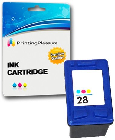 Printing Pleasure COLOR Druckerpatrone für HP Officejet 4200, 4212, 4215, 4219, 6110 / PSC 1100, 1110, 1209, 1210, 1210V, 1210xi, 1215, 1216, 1310, 1312, 1315, 1317 / Deskjet 3320, 3325, 3420, 3535, 3538, 3550, 3645, 3650, 3740, 3744, 3745, 3840, 3845, 3848, 5150, 5160, 5650, 5652, 5850 / Fax 1240 | kompatibel zu HP 28 (C8728AE)