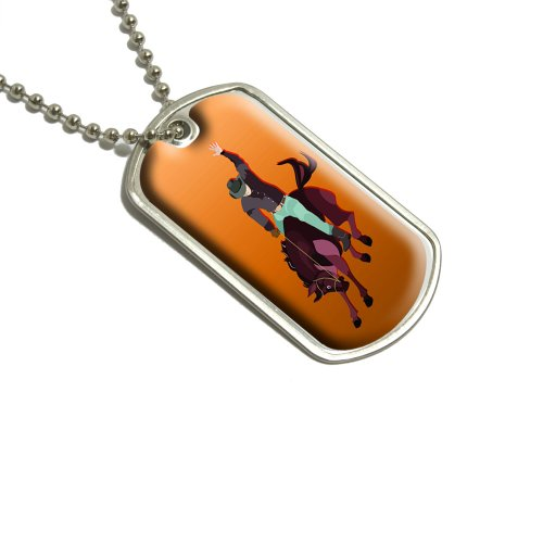 Rodeo Cowboy Orange–Western Pferd Country Militärische Erkennungsmarke Gepäck Schlüsselanhänger (Cowboy Kfz-zubehör)