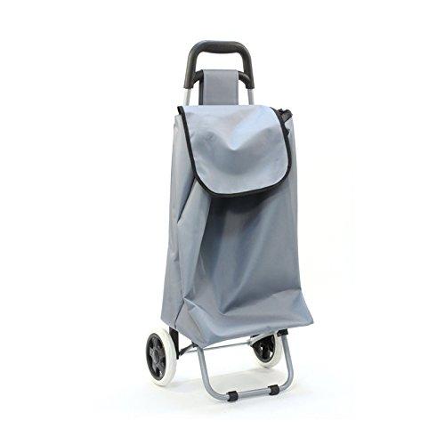 Chariot de marché uni gris