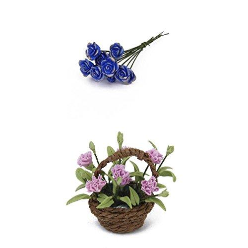10-stuck-kunstliche-blau-rose-ton-fur-puppenhaus-nelke-blume-pflanze-w-korb