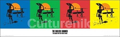 Endless Summer - Quad Poster Drucken (91,44 x 29,85 cm) (Summer Drucken Endless)