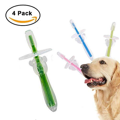 [AIDIYA] Hund Zahnbürste für Pet Dental Care - Triple Zahnbürste - empfohlen von Tierärzte Leitung und PET hundefriseuren - Perfekt für mittlere Große Hunde - ergonomischer Griff Design für einfache Oral Care Pflege