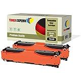 Pack de 2 TONER EXPERTE® Compatibles CE410X 305X Negro Cartuchos de Tóner Láser para HP Colour LaserJet Pro 300 M351A MFP M375NW Pro 400 M451DN M451DW M451NW M475DN M475DW