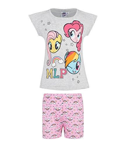 My Little Pony Mädchen Shorty-Pyjama - grau - 116 (Little My Schlafanzug Pony)