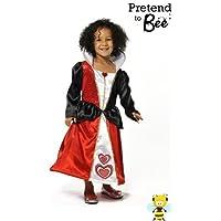 QUEEN OF HEARTS GIRLS FANCY DRESS COSTUME - ALICE IN WONDERLAND 5-7 by ALICE 3cf3d39544e