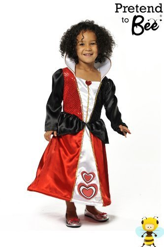 QUEEN OF HEARTS GIRLS FANCY DRESS COSTUME - ALICE IN WONDERLAND 3-5 YEARS by Pretend To (Bee Queen Kostüme Zubehör)