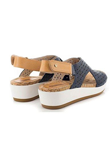 Sandalo Pikolinos pelle blu W1G-0969 Blue