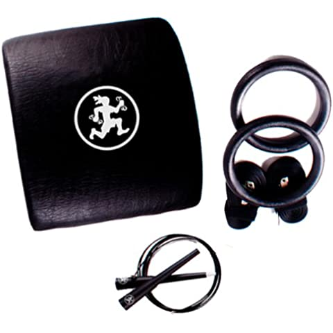 Rubberbanditz Mobile WOD Essentials Kit - Gym Rings, Jump Rope, Back Pad