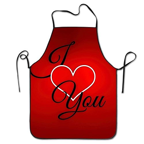 st Couple Lock Edge Waterproof Durable String Adjustable Easy Care Cooking Apron Hen Apron for Women Men Chef ()