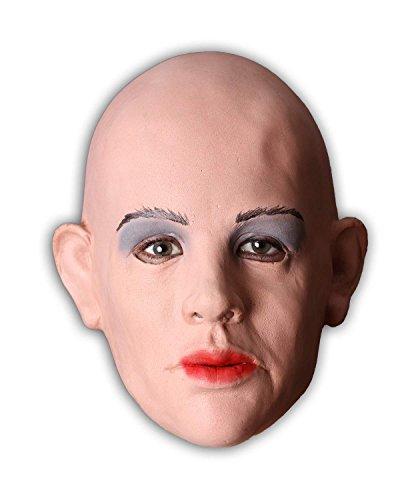 Realistische Frauenmaske aus weichem Schaumlatex. Eine sexy Female Mask nicht nur für ()