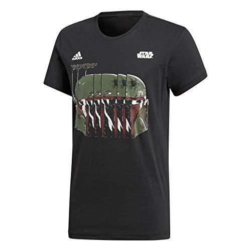 Fett-logo-t-shirt (adidas Herren Star Wars Boba Fett T-Shirt, Black, 3XL)