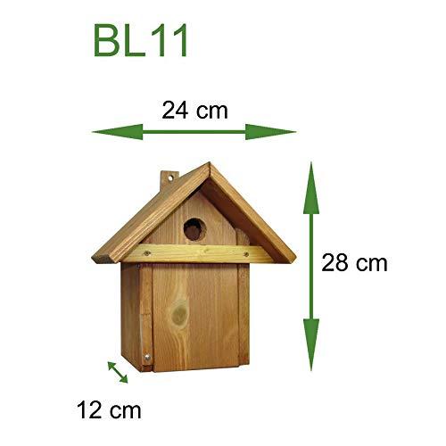 Handgefertigtes Vogelhaus in traditioneller Form, Holz, braun (Teak), Standard - Standard-traditionellen Holz