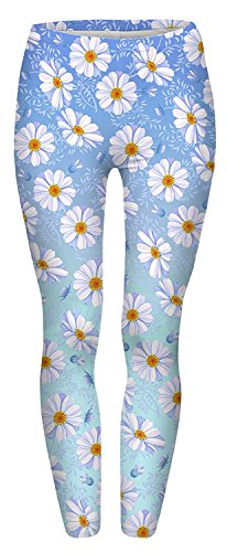 Alive Damen Leggings One Size Gr. One Size, Daisy Blue Ombre -