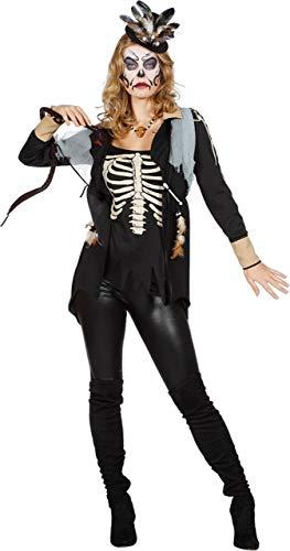 Kostüm Hexenmeister Untoten - Wilbers & Wilbers Voodookostüm Voodoo Priesterin Kostüm Zauberin Hexe Untote