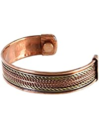 Magnetic Bracelet for Men - Arthritis Aid. Adjustable size. Copper Bangle with 2 large Magnets. Golf Copper Magnetic Bracelet. Sports, Athletics, Arthrits Bracelets; Arthritic Pain Relief, Carpal Tunnel, Joint Injuries. Tendonitis, Magnetic Therapy Jewellery