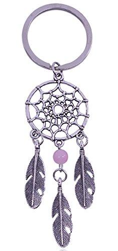 selanhänger Key Chain Einzigartige Türkis mit Feder Anhänger Personalisiert Design Schlüsselhalter Das Beste Kleine Geschenk(Rosa) (Einzigartige Traumfänger)