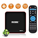 Sidiwen Android 7.1.2 TV Box MECOOL M8S Pro W 2GB RAM 16GB ROM Amlogic S905W Quad Core Smart Set Top Box Support 2.4G WiFi 10/100M Ethernet 3D 4K UHD OTA Update Internet Media Player
