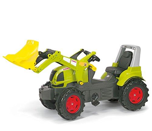 Claas Trettraktor Rolly Toys 710232 rollyFarmtrac Claas Arion 640, Traktor mit rollyTrac Lader, Lader abnehmbar, Trettraktor mit Motorhaube zum Öffnen, Flüsterreifen, Sitzverstellung, ab 3 Jahren, Farbe grün