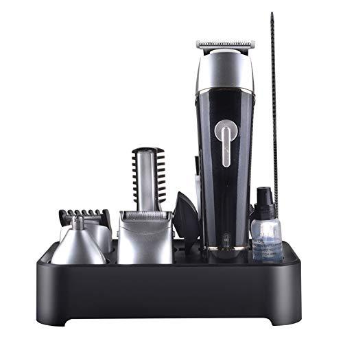 GODLOVEWORLD Haarschneider multifunktions elektrorasierer nasentrimmer männer Styling Werkzeuge Hair Clipper 5 in 1 wiederaufladbare haarschneidemaschine,Black -