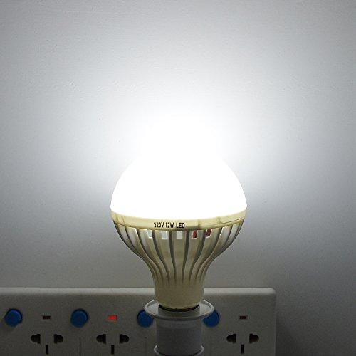 DZFDZ Intelligenter Ton- / Pir-Bewegungs-Sensor führte Lampen-Licht 3w 5w 7w 9w 12w E27 220v Induktions-Birnen-Treppen-Flur-Nachtlicht-weiße Farbbewegungs-Sensor 7W (220v Bewegungs-sensors)
