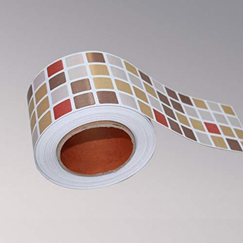 LZYMLG Mosaico clásico Dtickers Vinilo Impermeable