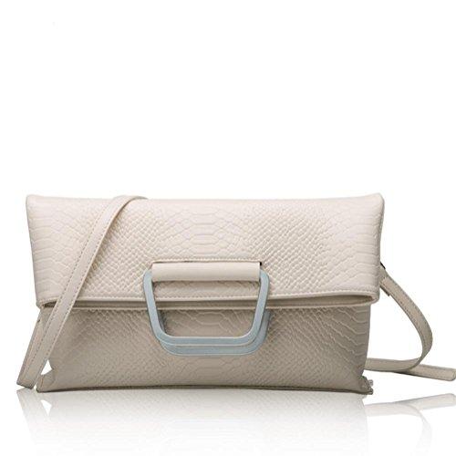 GBT Art- und Weiseschulter-Beutel-Handtaschen-Leder-Handtasche meters white