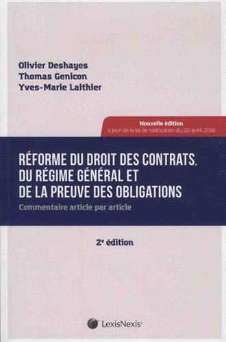 Réforme du droit des contrats du régime général : Commentaire article par article