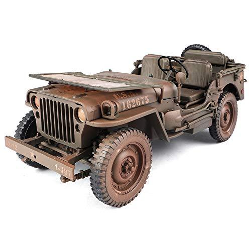Modello di auto, scala 1:18 iiep militare d'epoca jeep modellino auto, per collezioni/decorazioni/regali/decorazioni/giocattoli