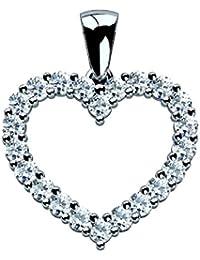 Special Offer ..!! Best Seller Heart Shape Pendant , White Gold