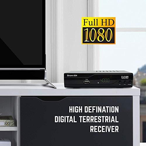41JzoQcjxVL - Strom 504 Decodificador Digital Terrestre - TDT / DVB T2 / Full HD / HDMI / Receptor TV / USB / H.265 HEVC / TDT Television / DVB-T2 / 4K