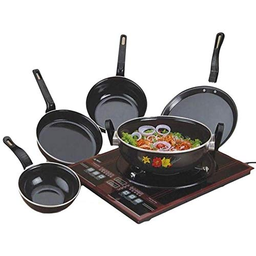 Xllent® Non Stick Set/Popular Induction Non-Stick Cookware Set/Kadhai/Tawa/Frypan/Tadka/Sauce Pan/(Black) -...