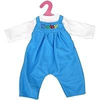 Ropa Muñecas Fashion Camiseta Guardapolvos Babero Traje para Deshilvanado Bebé - Azul