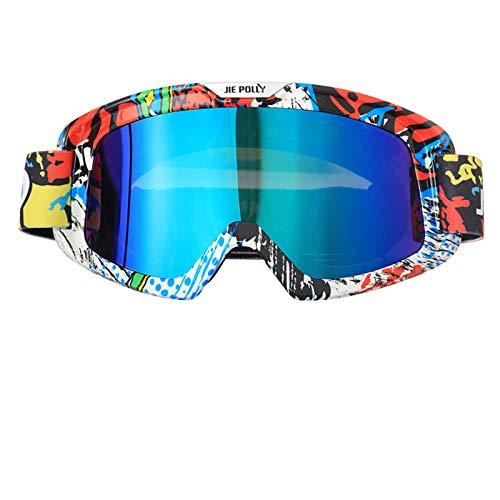 Aienid Sportbrille Im Sommer Colorful A03 Skibrille Winddichter Augenschutz Size:21X10CM