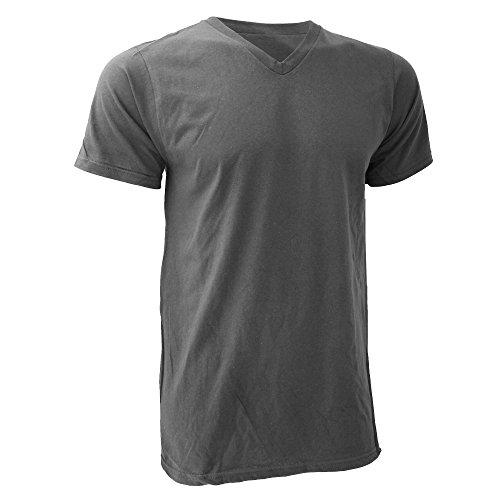 Anvil Herren T-Shirt V-Ausschnitt Fashion Tee Marineblau