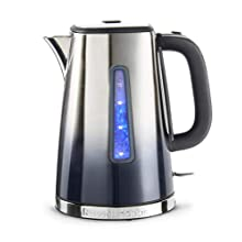 Russell Hobbs 25111 Eclipse Polished Stainless Steel and Midnight Blue Ombre Electric Kettle, 3000 W, 1.7 Litre