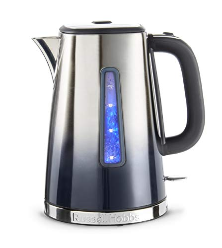 Russell Hobbs 25111 Eclipse Polished Stainless Steel and Midnight Blue Ombre Electric Kettle, 3000 W, 1.7 Litre Best Price and Cheapest