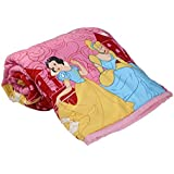 TRUSTFUL Cute Princess Cartoon Kids Design Print Single Bed Reversible AC Blanket | Dohar | Quilt | Comforter | Duvet (Polycotton, Multicolor)