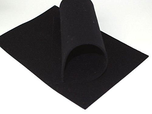 8-Natur Wollfilz 3mm 100% Merino 20 x 30 cm (Schwarz (5)) -