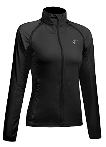 Shelcup Damen Winddichte wasserdichte Cabrio Laufjacke, Damen, Convertible-Black 1, L (Please Check Our Size Chart) Womens Convertible Wind Jacket