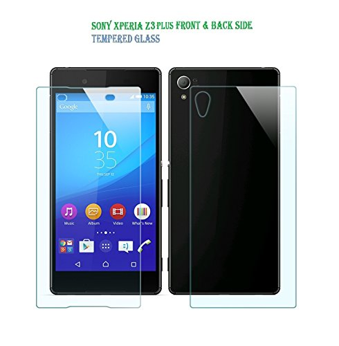 Royal Touch (TM) FRONT & BACK SIDE 100% Bubble Free Edge to Edge Cover Japanese AGC Tempered Glass Screen Gard Scratch Protector For Sony Xperia Z3 Plus/Xperia Z4(Sony E6553)
