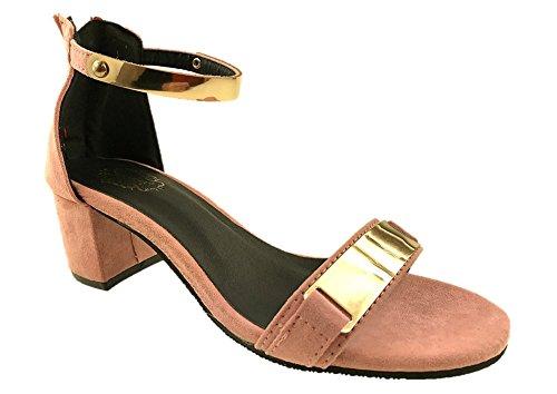 Pink 35.5 EU Burlega con Cinturino Alla Caviglia Donna Rosa 35.5 Scarpe 74t