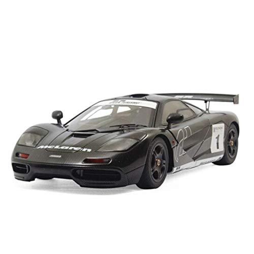 YaPin Modellauto 1:18 McLaren F1 Metall Auto Erwachsene Automodell Sportwagen Legierung Automodell Dekoration Geschenk (Color : Black)