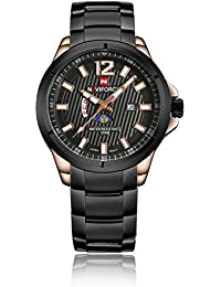 Isweven Analogue Black Dial Men's Watch (Nforce_9084_C)