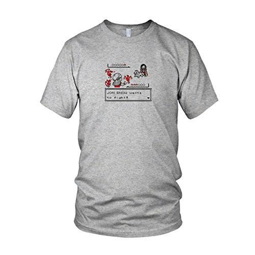 GoT: Retro Game - Herren T-Shirt Grau Meliert