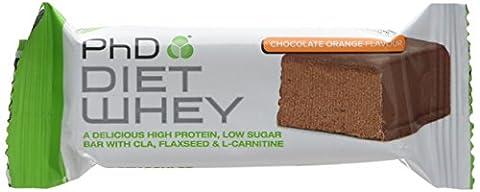 PhD Nutrition Diet Whey Bar, 50 g - Chocolate Orange, Pack of 12
