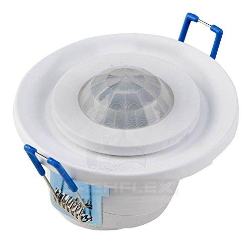 Drehflex® Kleiner 360° Decken Bewegungsmelder, 20° Neigbar Weiss 800Watt