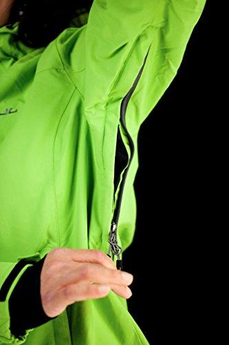 Jeff Green Damen Atmungsaktive Wasserdichte Outdoor Funktions Jacke Clara 12.000mm Wassersäule Ash