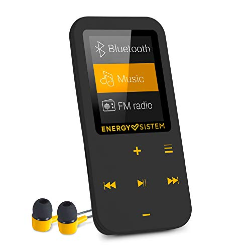Oferta de Energy Sistem Touch Amber - Reproductor MP4 con tecnología Bluetooth (16 GB, Auriculares intrauditivos, Radio FM, MicroSD) Color Negro y ámbar